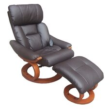 Deluxe Heated Reclining Massage Chair with Ottoman