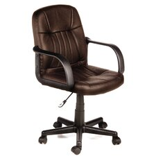 Mid Back Leather Chair