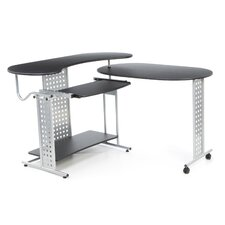 Regallo Expandable 'L' Computer Desk