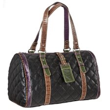 Quilted Satchel in Black