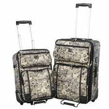 <strong>Sydney Love</strong> Travel Print 2 Piece Luggage Set