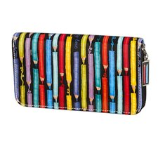 Colored Pencils Zip Around Wallet
