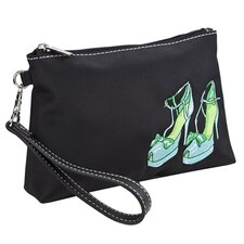 Head Over Heels Embroidered Cosmetic Wristlet