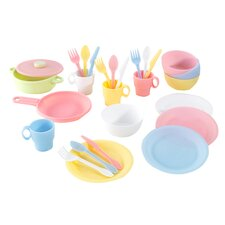 Pastel 27 Piece Cookware Play Set