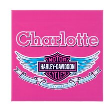 "Personalized Harley Davidson 15""x15"" Girls Canvas"