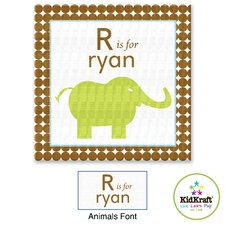 Personalized Boy Animals Canvas Art