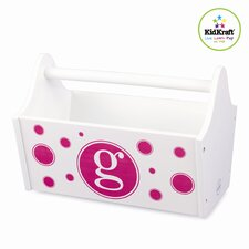 Personalized Toy Box Caddy in White