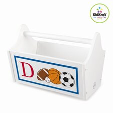Personalized Sports Toy Box Caddy in White