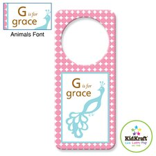 <strong>KidKraft</strong> Personalized Girl Animal Door Hanger