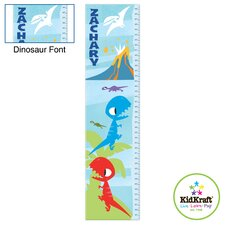 Personalized Dinosaur Blue Growth Chart