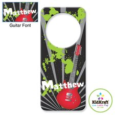Personalized Guitar Door Hanger