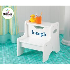 <strong>KidKraft</strong> Personalized Two Step Stool in White