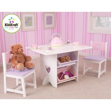 Heart Kids' 7 Piece Table and Chair Set