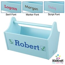 <strong>KidKraft</strong> Personalized Toy Box Caddy in Ice Blue