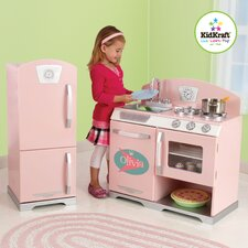 Personalized Pink Retro Kitchen & Refrigerator