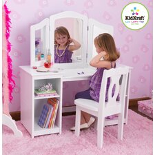 <strong>KidKraft</strong> Deluxe Vanity and Chair