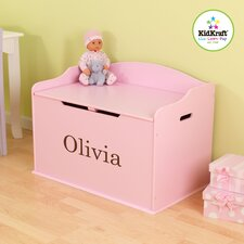 <strong>KidKraft</strong> Personalized Austin Toy Box in Pink
