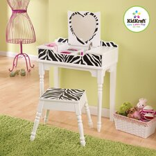 Fun and Funky Vanity Set with Mirror