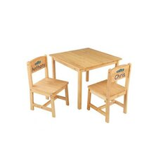 Personalized Aspen Kids' 3 Piece Table and Chair Set