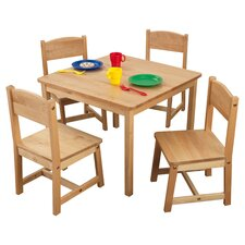 Kid's Farmhouse 5 Piece Table & Chair Set