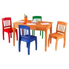 Euro Honey Kids 5 Piece Table and Chair Set
