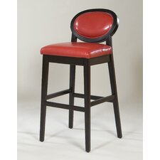 Martini Stationary Barstool in Red