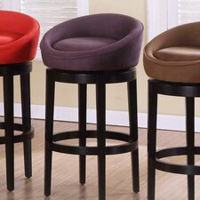 <strong>Armen Living</strong> Igloo Microfiber Swivel Barstool in Eggplant