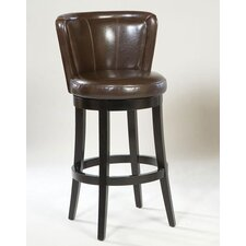 <strong>Armen Living</strong> Lisbon Swivel Barstool in Brown