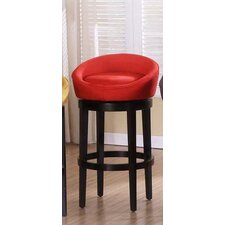 Igloo Microfiber Swivel Barstool in Red