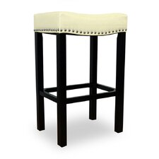 Tudor Backless Leather Barstool