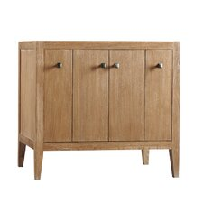 "Sophie 36"" W Wood Cabinet Vintage Honey Vanity Base"