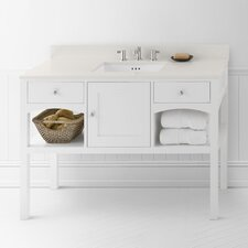 "Neo-Classic Langley 48"" W Wood Cream Vanity Set"