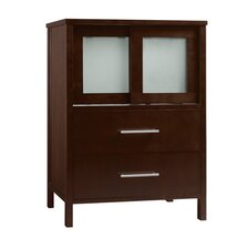 "Contempo Minerva 23"" W Wood Dark Cherry Vanity Base"