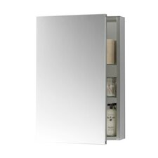 "23"" W Brushed Nickel Medicine Cabinet"