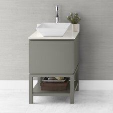 "Contempo Jenna 23"" W Wood Slate Gray Cabinet Vanity Set"