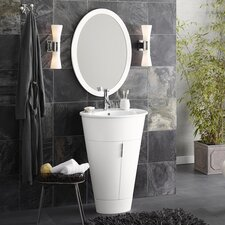 "Contempo Leonie 23.63"" W Bathroom Glossy White Vanity Set"