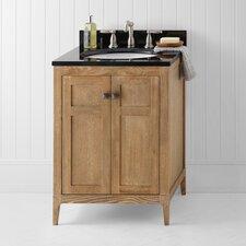 "Neo-Classic Briella 24.6"" W Wood Vintage Honey Cabinet Vanity Set"