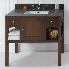 "Neo-Classic Langley 38.35"" W Café Walnut Vanity Set"