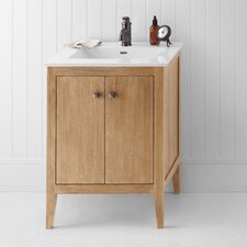 "Neo-Classic Sophie 24"" W Wood Cabinet Vintage Honey Vanity Set"