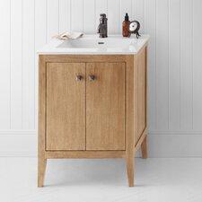 "Neo-Classic Sophie 25"" W Wood Cabinet Vintage Honey Vanity Set"