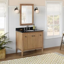 "Neo-Classic Sophie 36"" W Wood Cabinet Vintage Honey Vanity Set"