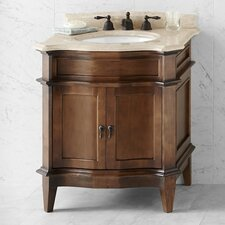 "Traditions Solerno 32"" W Standard Bathroom Café Walnut  Vanity Set"