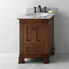 """Traditions Venice 25"""" W Wood Colonial Cherry Vanity Set"""
