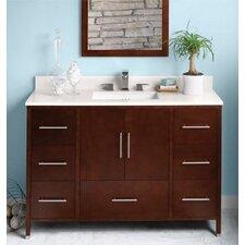 """Contempo Juno 50"""" Single Bathroom Vanity Set with Mirror"""