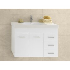 "Wall Hung 32"" Wall Mount Bathroom Vanity Base"