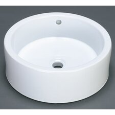 <strong>Ronbow</strong> Round Ceramic Vessel Bathroom Sink with Overflow