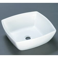 <strong>Ronbow</strong> Square Ceramic Vessel Bathroom Sink without Overflow