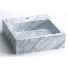 <strong>Ronbow</strong> Rectanglular Marble Vessel Bathroom Sink with Single Faucet Hole