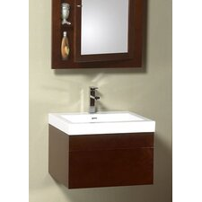 "Modular 23.25"" Wall Mounts Rebecca Drawer Bathroom Vanity Set"