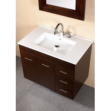 "Modular 32"" Single Wall Mount Bathroom Vanity Set"